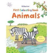 Animal Colouring Book with Stickers by Cecilia Johansson