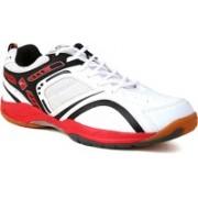Proase Badminton Shoes(White, Red)