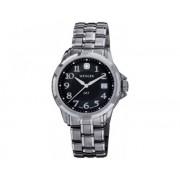 Reloj Wenger GST dial negro brazalete inox