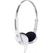 """Casti 4World stereo cu pernite de urechi confortabile """"Color"""", 1,5m, albe"""