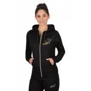 Trigema Damen Kapuzen-Jacke Stern Größe: M Material: 50 % Baumwolle, 50 % Polyester Farbe: schwarz