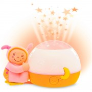 Chicco papusa cu lampa muzicala roz 0 luni+