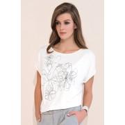 Kore luxus női póló, nyomott mintával