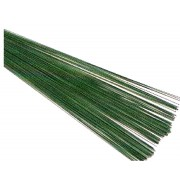 "Green Florist Wire 22swg x 7.5"" approx 100pieces"