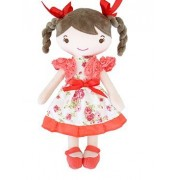 New imported toys for girls little red girl dolls with round eyes