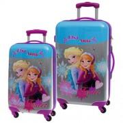 Disney Frozen sisters forever 4 kerkes ABS bőrönd