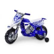 Loko Toys - Moto eléctrica para niños, batería 6V incluido, color azul y blanco (99620-B)