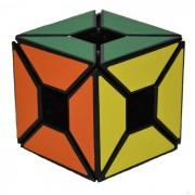 Seis-Color Negro con perfil irregular del borde del hueco del juguete del cubo - multicolor