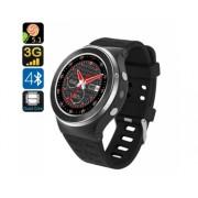 ZGPAZ S99 Android 5.1 montre Smart Watch - 1,33 pouces, Bluetooth 4.0, Quad Core CPU, 3G, podomètre, moniteur de fréquence cardiaque