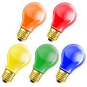 Osram 5er Sparset Decor A 11W / E27 - je 1 x gelb/orange/rot/blau/grün