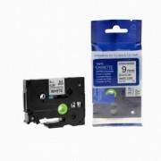Brother TZ-S221/TZe-S221 9mm x 8m adhezní černý tisk/bílý podklad kompatibilní