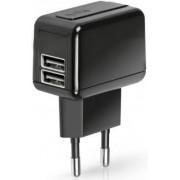 Incarcator retea SBS TETRAV2USB1A, dual USB, Universal, 1A (Negru)