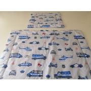 2 részes ovis ágynemű garnitúra 130x90 cm - kék macis
