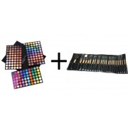 KIT MAKE-UP Trusa 180 Culori + Set 24 Pensule