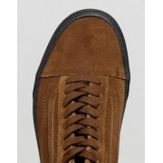 Vans Old Skool Suede Trainers In Brown VA38G1OT2 - Brown