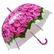 Deštník dámský vystřelovací holový růže růžový 9160-13 9160-13