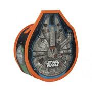 Star Wars - Contenitore a forma di Millennium Falcon, convertibile in pista da corsa