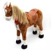 Pink Papaya Elsa Cavallo gigante 105cm, XXL Cavallo di peluche in Comic Style, il cavallino Elsa è alto circa 105 cm | cavallo giocattolo a grandezza quasi naturale può portare fino a 100 kg - il cavallo da bambini è dotato di una lunga criniera ed una me