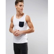 French Connection Vest with Contrast Pocket - White (Sizes: XL, 2XL, L)