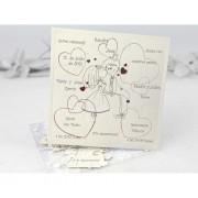 Invitación de boda Puzzle Corazones