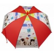 Deštník dětský holový vystřelovací kočka červený 9149-9 9149-9