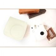 PU Leather Camera Bag Shoulder Strap for Fuji Fujifilm Instax Mini8 Beige