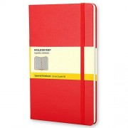 Moleskine Red squared, large notebook