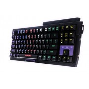 Tesoro Tizona Elite G2NFL Brown Mechanical Switch USB Hub Tenkeyless Tournament Full Color RGB LED Backlit Illuminated Gaming Mechanical Keyboard TS-G2NFL (BW)