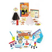 3 Item Bundle: Thames & Kosmos 657123 Solar Thermal Lab and 657130 Science Expirements in the Tub + Coloring Activity Book