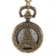 Mulheres Relógio de Moda Quartz Lega Banda Torre Eiffel Bronze marca-