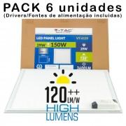 (6un) Painel LED 600x600 29W Luz Quente 3.600Lm MAXI Hi