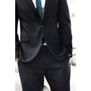 Mens Next Regular Fit Suit Trousers - Navy