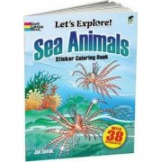 Sea Animals Sticker Coloring Book by Jan Sovak
