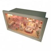 Camera Papusi 3D Diorama Iluminata Pink Dream