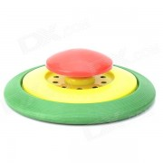 Plastique Flying Disc Frisbee Toy - rouge + jaune + vert