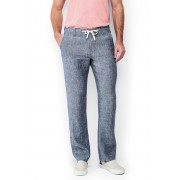 ランズエンド LANDS' END メンズ・リネン・ウィークエンド・パンツ(ブルーシャンブレー)