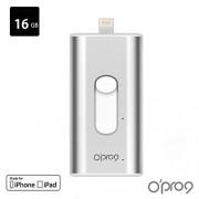 opro9 FSA005 - 01 - 001 Safe file chiavetta USB Lightning MFI certificato con funzione crittografia AES 256Bit, 16 GB per Apple iOS/iPhone/iPad argento
