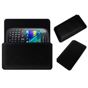 Acm Horizontal Leather Case For Blackberry Curve 9320 Mobile Cover Carry Pouch Holder Black