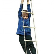 HappyPie Playground Climbing Wooden Rope Ladder for Kids Indoor/Outdoor-64 Inch Length