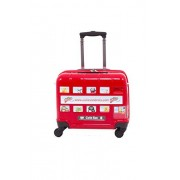 CUTIES AND PALS KIDS RIDE-ON STICKER TRUNK TROLLEY LUGGAGE - RED LONDON BUS