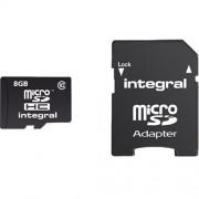 Card Memorie Micro SD Class 10 cu Adaptor 40 MBS INTEGRAL 8GB INMSDH8G10-40U1 Integral