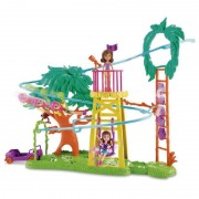 Boneca Polly Pocket Surpresa Safari Playset Diversão na Tirolesa - Mattel