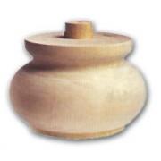 Pata Para Móviles de Cebolla Ontano de Madera 95 X 70 mm, Art. 03,0017