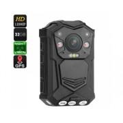 Police Corps Caméra Worn - 10M vision nocturne, 1296p, 140 degrés objectif, capteur CMOS, étanche IP65, 2 pouces d affichage, Horodatage
