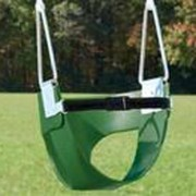 Belted Half-Bucket Toddler Swing (No Chain or Rope) - Green