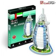 Cubic Fun 17-Pieces 3D PUZZLE BURJ AL ARAB MODEL Worlds Great Architecture