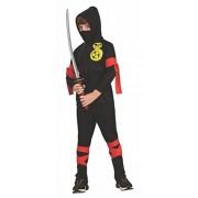 Haunted House Childs Black Ninja Costume, Medium