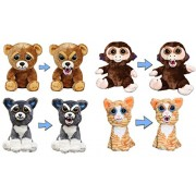 "Feisty Pets by William Mark- Set of 4- Sir-Growls-a-Lot, Grandmaster Funk, Sammy Suckerpunch & Princess Pottymouth- Adorable 8"" Plush Stuffed Pets That Turn Feisty With a Squeeze!"