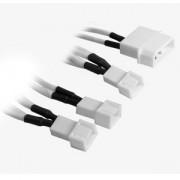 Cablu adaptor BitFenix Alchemy 4-pini Molex la 3x 3-pini 5V, 20cm, white/white, BFA-MSC-M33F5VWW-RP