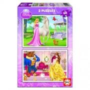 Educa Disney Csipkerózsika és Bella puzzle, 2x48 darabos